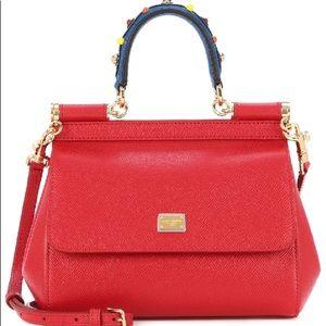 Dolce & Gabbana Red Sicily Handbag.